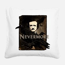Poe Raven Nevermore Square Canvas Pillow