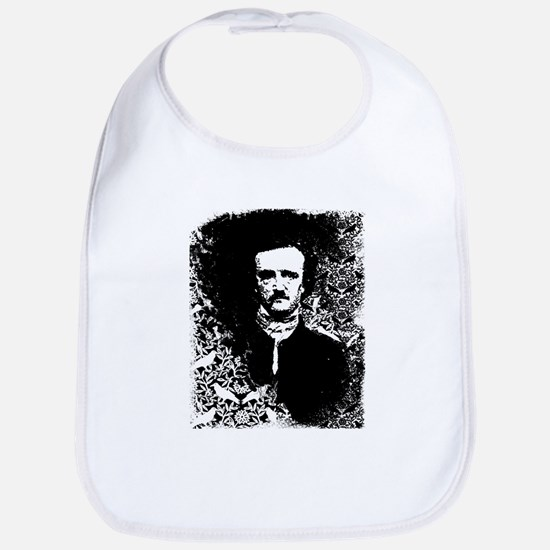 Poe On Raven Pattern Bib