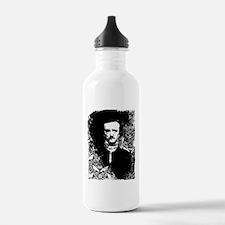 Poe On Raven Pattern Water Bottle