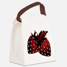 Skull Strawberries Canvas Lunch Bag