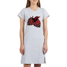 Skull Strawberries Women's Nightshirt