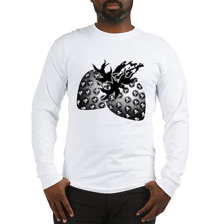 Gothic Strawberries Long Sleeve T-Shirt