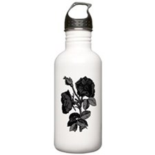 Gothic Black Roses Water Bottle