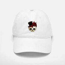 Cute Gothic Skull In Top Hat Baseball Baseball Cap