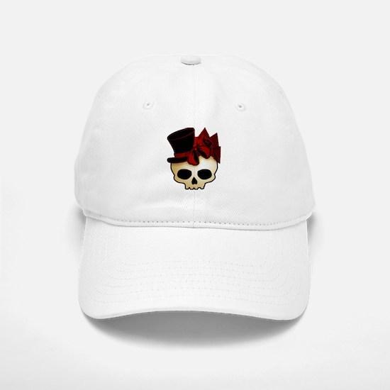 Cute Gothic Skull In Top Hat Cap