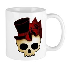 Cute Gothic Skull In Top Hat Mug