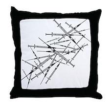 Medical Needles Throw Pillow
