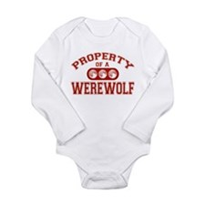 Property Of A Werewolf Long Sleeve Infant Bodysuit