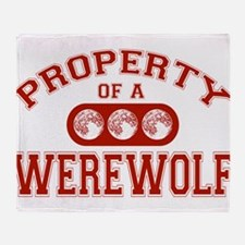 Property Of A Werewolf Throw Blanket