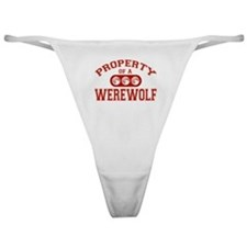 Property Of A Werewolf Classic Thong