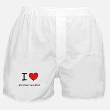 I Love welding engineers Boxer Shorts