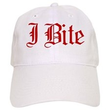 Text I Bite Baseball Cap