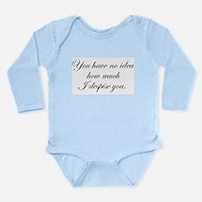 How Much I Despise You Long Sleeve Infant Bodysuit