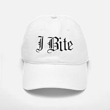 Text I Bite Baseball Baseball Cap