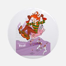 Recycled Beef Kids Ornament (Round)