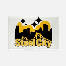 Steel City Rectangle Magnet