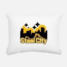 Steel City Rectangular Canvas Pillow