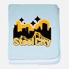 Steel City baby blanket