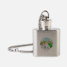 Unique Geocache Flask Necklace