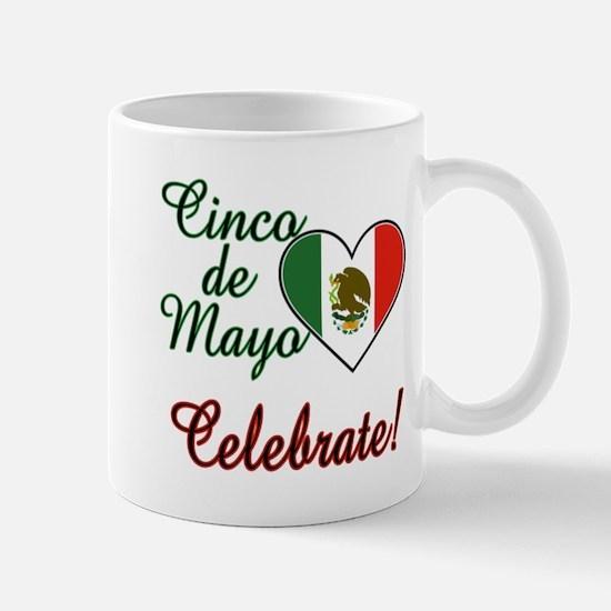 Mexican Flag Heart Mug
