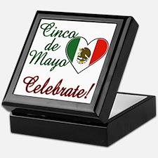 Mexican Flag Heart Keepsake Box