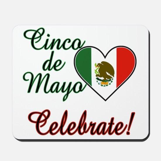 Mexican Flag Heart Mousepad
