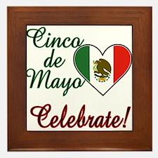 Mexican Flag Heart Framed Tile