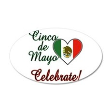 Mexican Flag Heart Wall Decal