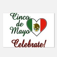 Mexican Flag Heart Postcards (Package of 8)