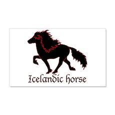 20x12 Black Icelandic Horse Wall Decal