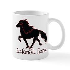 Black Icelandic horse Mugs