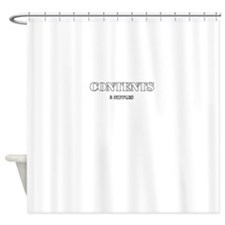 Contents 2 Nipples Shower Curtain
