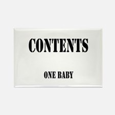 Contents One Baby Rectangle Magnet