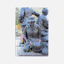 Vietnam Womens Memorial 3 Rectangle Magnet