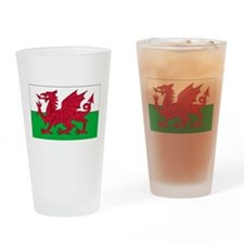 Wales Flag Drinking Glass