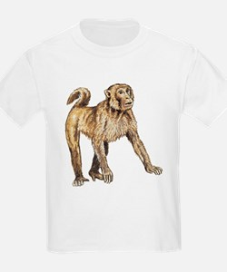 Macaque (Front only) Kids T-Shirt