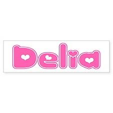 """""""Delia"""" Bumper Bumper Sticker"""