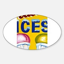 Old Signs: Ices! Decal