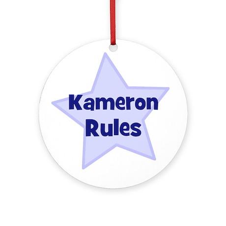 Kameron Rules Ornament (Round)