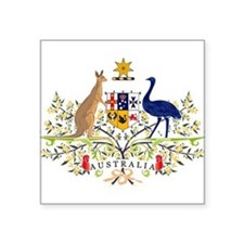 Australia Coat of Arms Oval Sticker