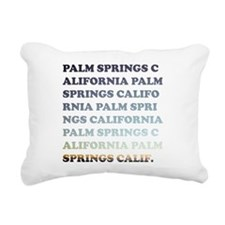 palm springs, california Rectangular Canvas Pillow