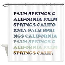 palm springs, california Shower Curtain