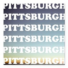 """pittsburgh Square Car Magnet 3"""" x 3"""""""