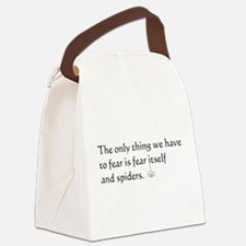 Fear and Spiders Canvas Lunch Bag