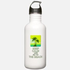 Keep Calm and go to the Beach Water Bottle