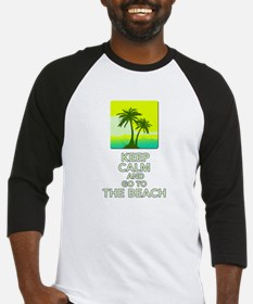Keep Calm and go to the Beach Baseball Jersey