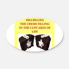 HILLBILLIES Oval Car Magnet