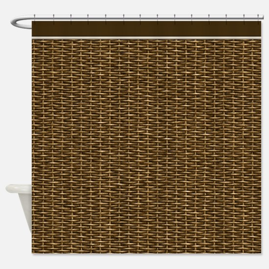 Basketweave Texture Over and Under Weave Shower Cu