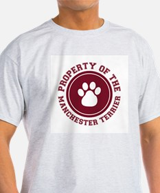 Manchester Terrier Ash Grey T-Shirt