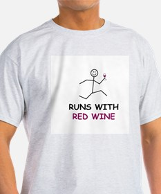 Red Wine Ash Grey T-Shirt